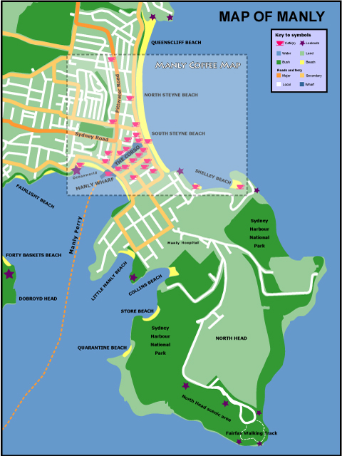 Map of Manly
